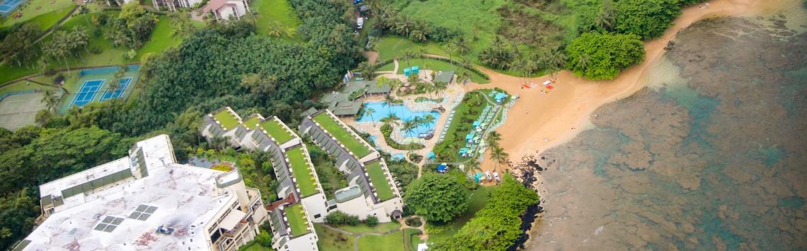 Vista aérea Kauai