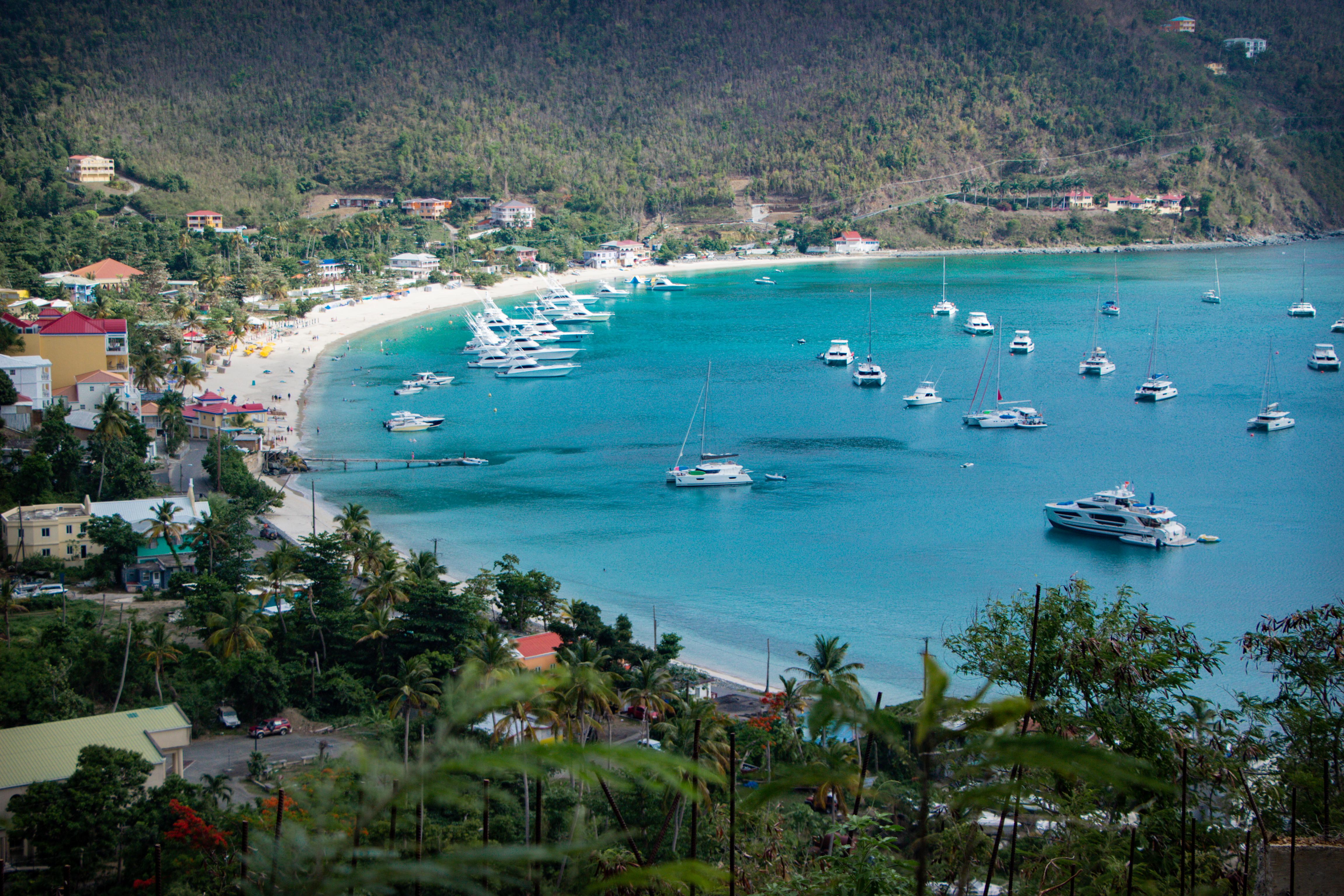 O cartão potal de Tortola: Cane Garden Bay