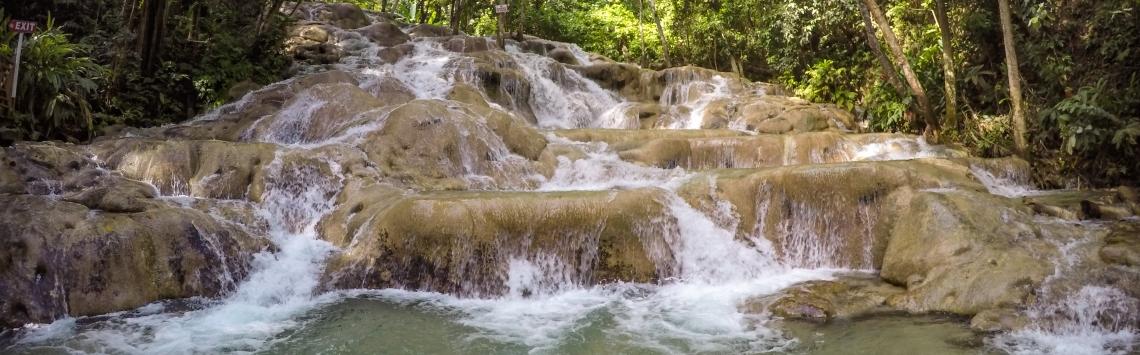 Dunn Falls CACHOEIRA cartão postal da JAMAICA