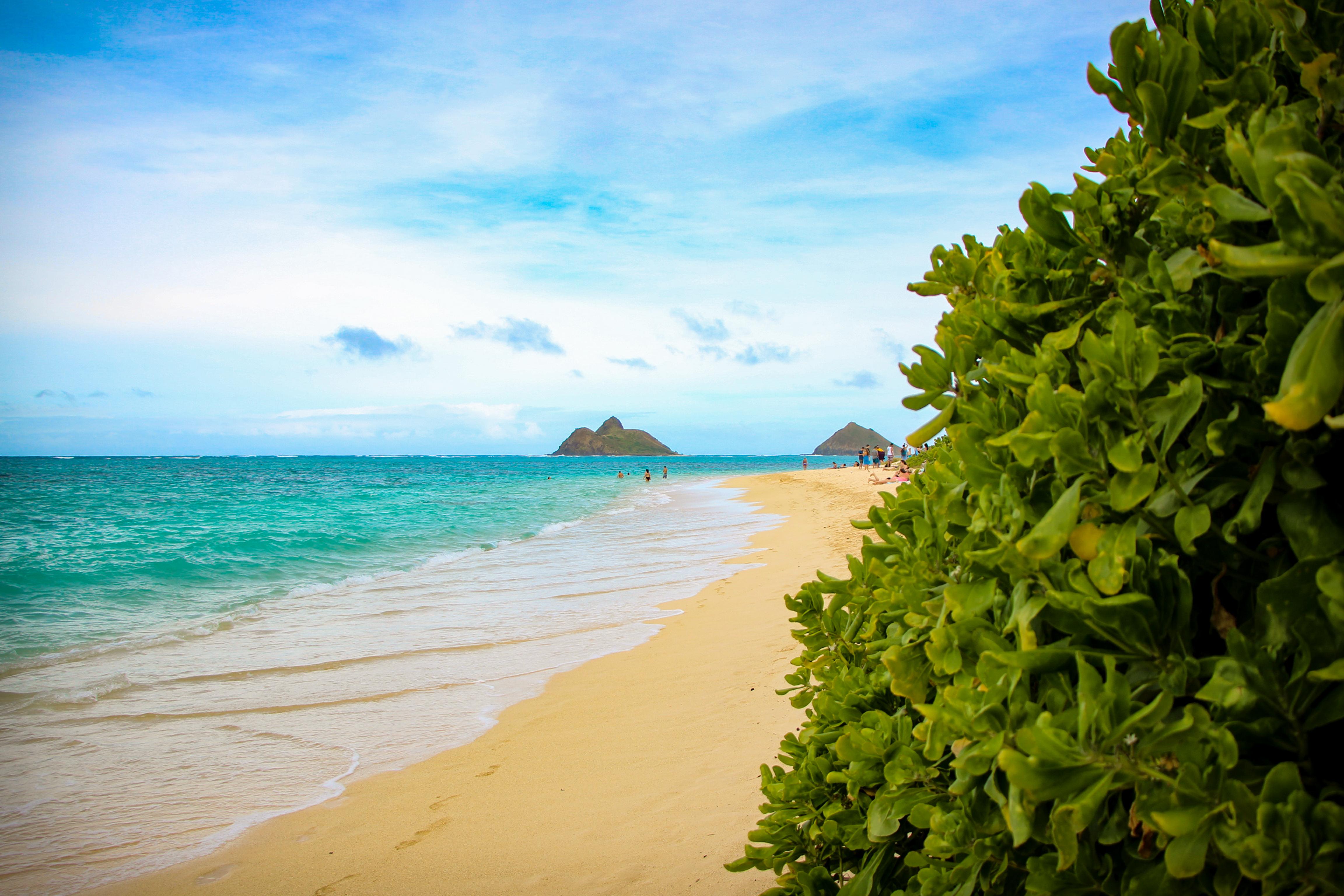 Costa leste de Oahu Lanikai Beach