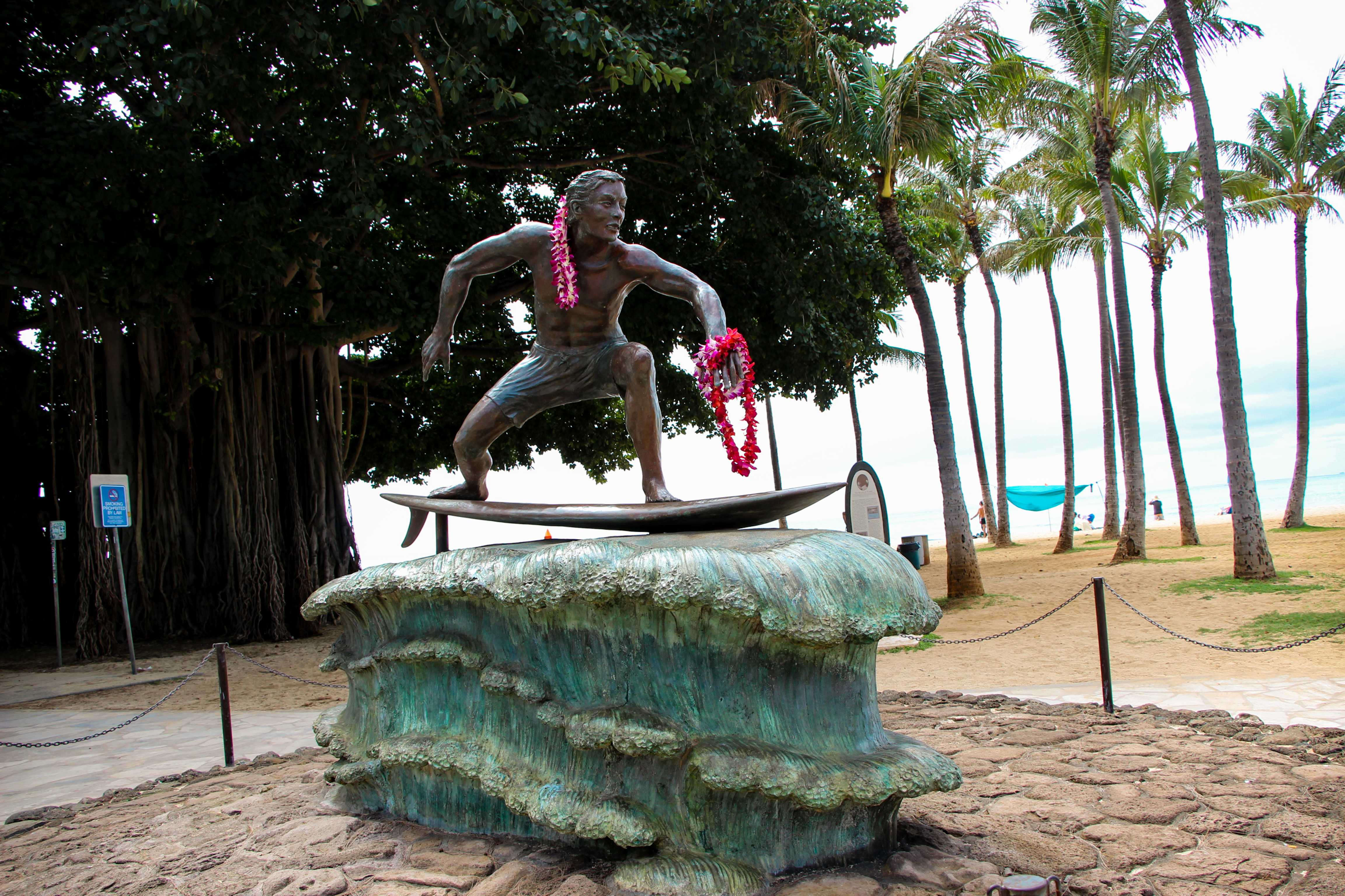 Surfer On a Wave Statue