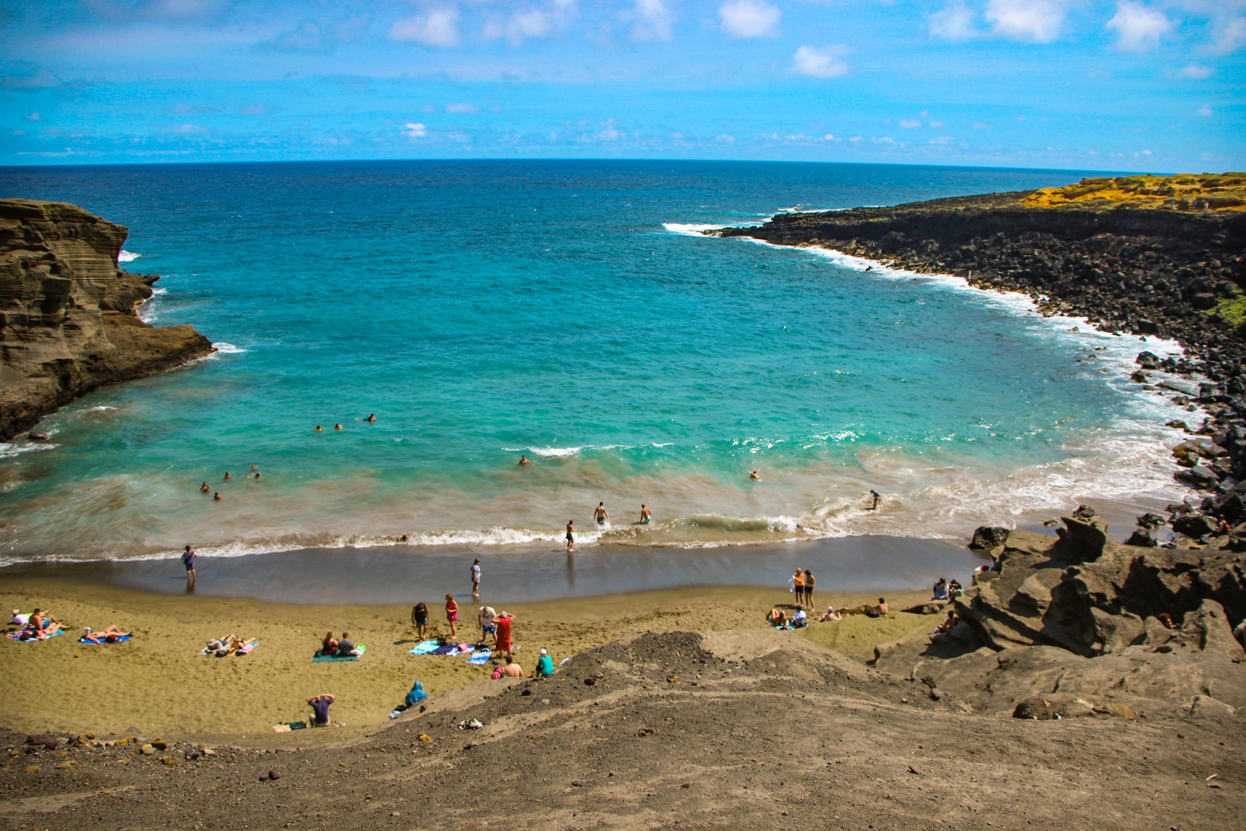 BIG ISLAND,Papakolea Green Sand Beach