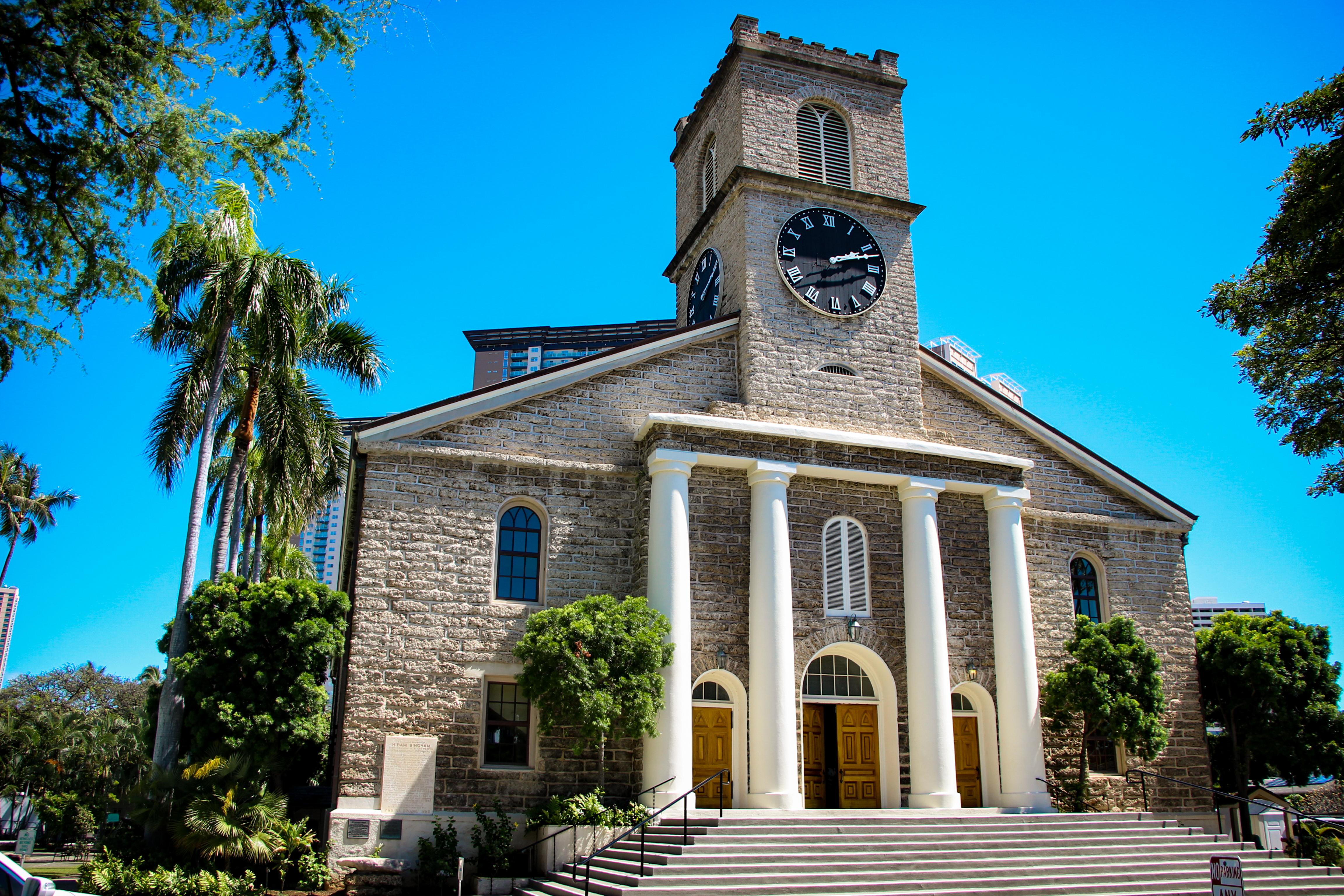 TEMPLOS RELIGIOSOS DE OAHU Igreja de Kawaiahao e Casas da Missão